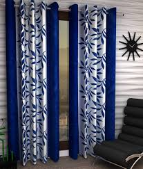 Eyelet Curtains Home Sizzler Set Of 2 Door Eyelet Curtains Floral Blue Buy Home