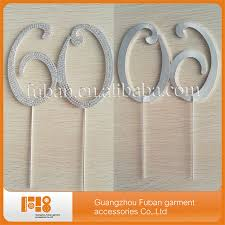 60 wedding anniversary plating silver number 60 wedding anniversary birthday rhinestone