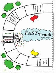 fast track board game worksheet education com
