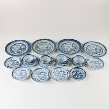 canton porcelain blue and white canton porcelain set ebth