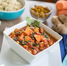 thanksgiving yam recipe yam chickpea curry with spinach