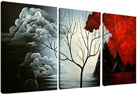 painting for home decoration santin art modern abstract painting wall decor landscape paintings