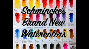 new schmincke watercolor colors youtube