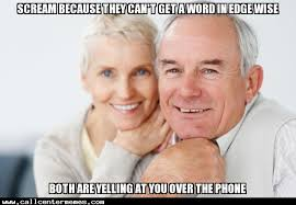 Couple Meme - unnecessarily angry old couple call center memes