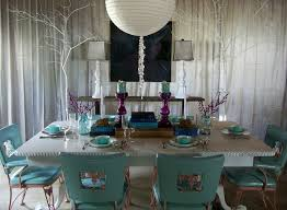 Aqua Dining Room Storybook Interiors Dining Rooms