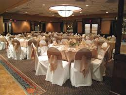 table covers for weddings crepe back satin table runners on white poly base linens with
