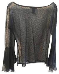 black sheer blouse parallel black sheer lace blouse size 12 l tradesy