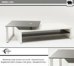 Wohnzimmertisch Mit Hocker Musterring Couchtisch 1024 Gragl In Lack Grau Mit Glasplatte Klar