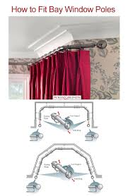 best 25 bay window curtain rail ideas on pinterest window rods this is a general guide on how to fit a 3 sided and 5 sided bay window pole and may not apply in every detail to all bay window poles