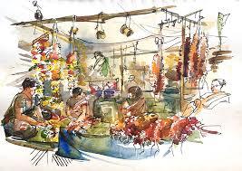 sketching in goa part 2 the markets urban sketchers
