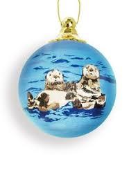 sea otter ornament at the