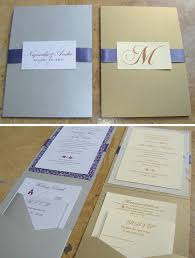 custom wedding invitations vertical folded card ribbon sash