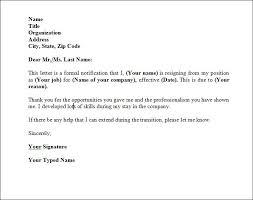 perfect resignation letter