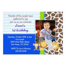 safari photo birthday invitations u0026 announcements zazzle
