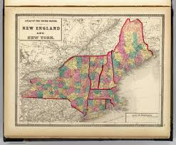 New England Map by New England And New York David Rumsey Historical Map Collection