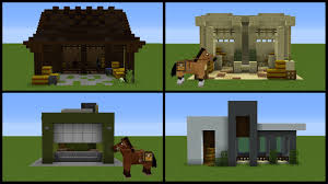 minecraft 8 horse stable designs youtube