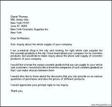sample inquiry letter templatezet