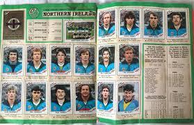 ireland photo album retro football 1986 world cup panini album shows how northern