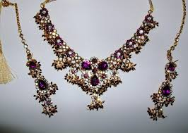 purple gold necklace images Purple gold indian jewellery set JPG