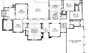 plan of a house sprawling ranch house plans house front color elevation view for