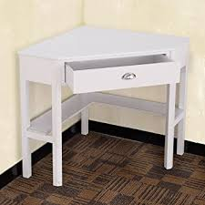 Laptop Writing Desk Tangkula Corner Computer Desk With Drawer Wood Laptop