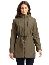 laundry by shelli segal waterproof anorak jacket in natural lyst