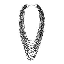 black necklace long images Buy beaded bracelet in grey champagne gold online in the uk jpg