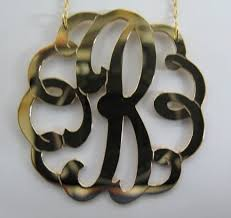 Single Initial Monogram Necklace Be Monogrammed 1 5 8
