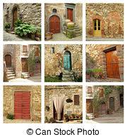 Tuscan Door Photograph Italy Photography by Stock Photo Of Postcard With Rustic Tuscan Doors Italy