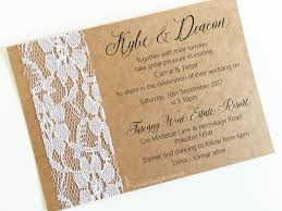 a6 invitation envelopes rustic kraft u0026 vintage lace invitations invited in style