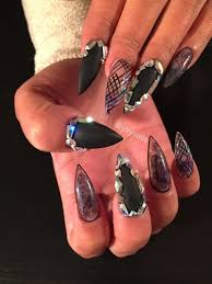 black claws edgy black claws nail gallery
