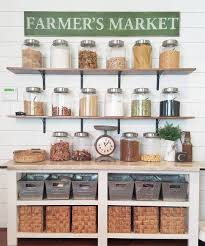 farmhouse kitchen shelves pantry farmhouse style decorating