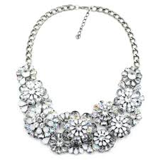 silver flower statement necklace images 58 statement necklac affordable statement necklaces jpg