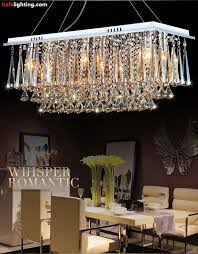 60cm rectangle crystal pendant light fitting crystal crystal