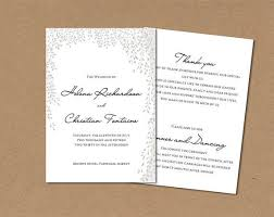 Templates For Wedding Programs The 25 Best Wedding Program Template Word Ideas On Pinterest