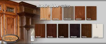 kitchen cabinet stain colors on alder cabinet woods and finishes from showplace rustic alder