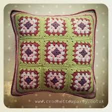 Free Cushion Crochet Patterns Granny Square Cushion Cover Crochet Pattern By Crochet Tea Party