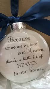 in memory memorial ornament because someone we