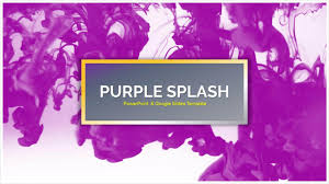 cool themes for google slides purple splash free powerpoint templates google slides themes