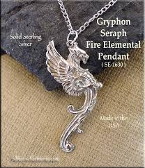 sterling silver large necklace images Sterling silver large gryphon pendant griffin necklace jpg