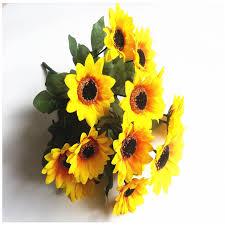 Sunflower Bouquets Online Get Cheap Wedding Bouquets Yellow Aliexpress Com Alibaba