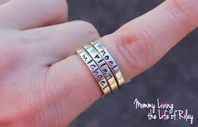 engraved stackable rings review personalized sterling silver rings to keep to your