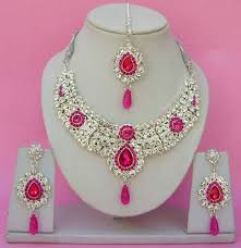 indian necklace set images Jodha akbar style indian gold plated bridal jewelry necklace set jpg