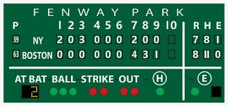 Boston Red Sox Home Decor by Vintage Boston Red Sox Fenway Green Monster Scoreboard Board Print