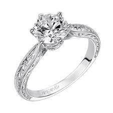 carved engagement rings artcarved elise 31 v495grw e idc jewelry store ta diamond