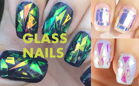 iridescent tissue paper diy or buy glass nails korean nail trend