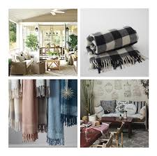 how to warm up your outdoor living space for fall the front indoor outdoor living inspiration from ballard designs buffalo plaid throw from schoolhouse electric