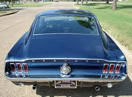 1968 mustang rear end presidential blue 1968 ford mustang gt fastback mustangattitude