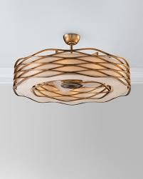 ribbon pendant ceiling light john richard collection ribbons of gold 12 light pendant with fan