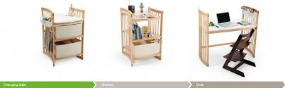 table converts to shelf stokke care converts from changing table to book shelf to small